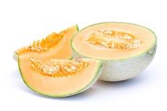 Melone arancione del cantalupo fotografia stock libera da diritti