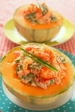 Melone con frutti di mare Fotografia Stock Libera da Diritti