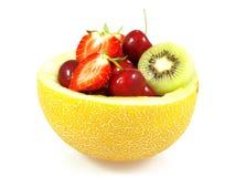Melone con la frutta Immagine Stock