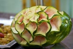 Melone con struttura di rosa Immagini Stock