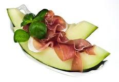 Melone d'escroquerie de Prosciutto Photo stock