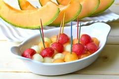 Melone del cantalupo Immagini Stock Libere da Diritti