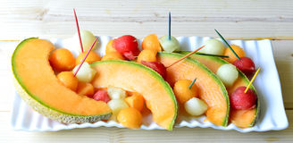 Melone del cantalupo Immagine Stock Libera da Diritti