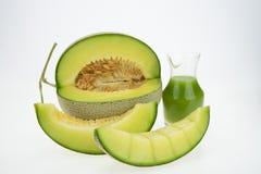 Melone del cantalupo isolato fotografie stock libere da diritti