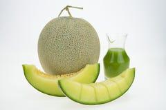 Melone del cantalupo isolato immagini stock