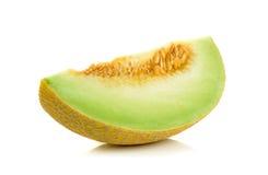 Melone del cantalupo isolato sui precedenti bianchi Fotografia Stock Libera da Diritti