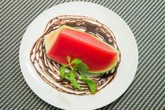 Melone della gelatina nella ciotola Immagini Stock Libere da Diritti