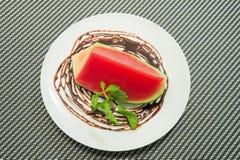Melone della gelatina nella ciotola Fotografia Stock Libera da Diritti
