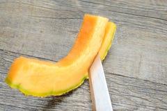 Melone di Cantalupo Immagini Stock Libere da Diritti
