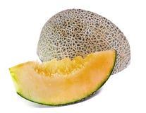 Melone di Charentais o del cantalupo isolato su bianco Fotografia Stock Libera da Diritti