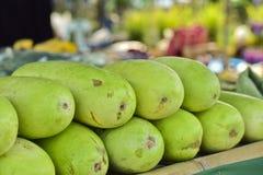 Melone di inverno verde per vendita al mercato Benincasa hispida Immagine Stock Libera da Diritti