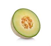 Melone di melata fresco su fondo bianco fotografie stock libere da diritti