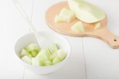 Melone di melata tagliato Immagine Stock