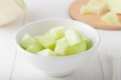 Melone di melata tagliato Fotografia Stock Libera da Diritti