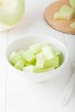 Melone di melata tagliato Fotografie Stock Libere da Diritti