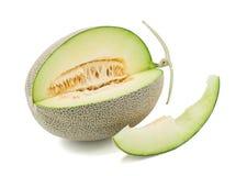 Melone di verde del Giappone su fondo bianco fotografia stock libera da diritti