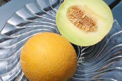 Melone diviso di Galia Fotografie Stock Libere da Diritti