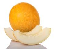 Melone e fette Fotografie Stock Libere da Diritti