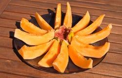 Melone e fico Fotografia Stock Libera da Diritti