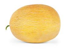 Melone, fette del melone isolate su fondo bianco Immagine Stock