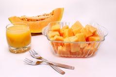 Melone fresco isolato Immagini Stock