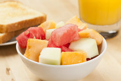 Melone-Frucht-Cup Stockbild
