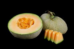 Melone giallo fotografie stock