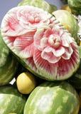 Melone intagliato Immagini Stock