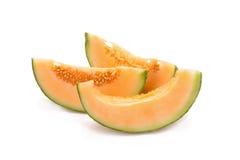 Melone isolato su fondo bianco Fotografia Stock