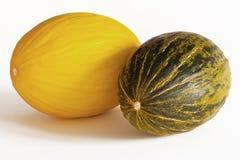 Melone - Kanarienvogel und Piel de Sapo Stockbild
