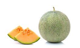 Melone lokalisiert auf weißem Hintergrund Lizenzfreies Stockbild