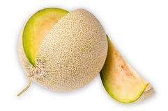 Melone lokalisiert auf weißem Hintergrund Stockfoto