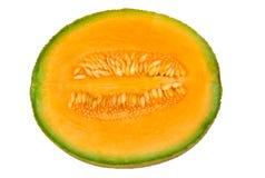 Melone mezzo del cantalupo fotografia stock libera da diritti