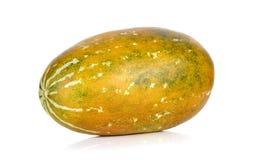 Melone tailandese del cantalupo isolato sui precedenti bianchi Immagini Stock
