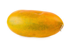 Melone tailandese del cantalupo isolato sui precedenti bianchi fotografia stock