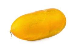 Melone tailandese del cantalupo isolato sui precedenti bianchi fotografie stock