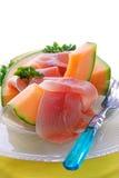 Melone und Prosciutto Stockfotos