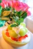 Melone verde, Bingsu Immagini Stock