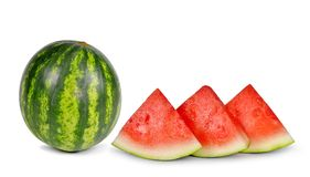 Melone verde fresco Fotografia Stock Libera da Diritti