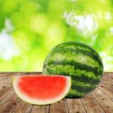 Melone verde fresco Immagini Stock Libere da Diritti