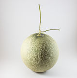 Melone verde isolato su fondo bianco Fotografie Stock