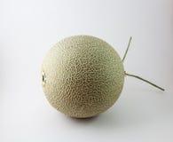 Melone verde isolato su fondo bianco Fotografia Stock