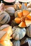 Melonen auf Markt Stockfoto