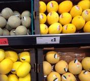 Melonen für Verkauf Lizenzfreie Stockfotos