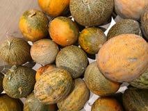 melonen gemüse Fragment von einem Obst- und Gemüse Shop Stockbilder