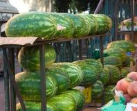 Melonen am Markt Stockbild