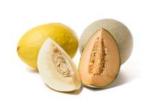 Melonen mit Scheiben Stockbild