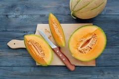 Melones del cantalupo foto de archivo