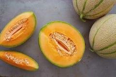 Melones del cantalupo imágenes de archivo libres de regalías