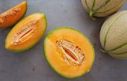Melones del cantalupo imagen de archivo